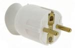 Fiche male 16A 2P+T en plastique avec orientation du cable à 360