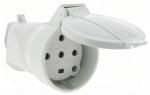 Fiche femelle 32A 3P+N+T Plexo avec poignée et volet de protec.