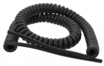 Cable spiralé 3G1 mm longueur 3 mètres Noir