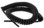 Cable spiralé 4 x 0.75 mm longueur 3.5 mètres