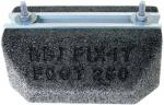 Support au sol anti-vibratiles Rubber Foot 400 x 130 x 80 mm