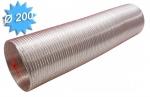 Gaine alu semi rigide diamètre 200 mm longueur de 3 mètres