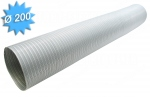 Gaine galvanisée semi rigide diamètre 200 mm longueur de 3 mètres