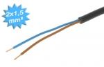Cable électrique R2V 2 x 1.5 mm² - Couronne de 100 mètres