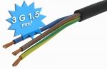 Cable électrique H07 RNF 3G1.5 mm couronne de 100 mètres