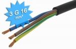 Cable électrique H07 RNF 3G16 mm au mètre