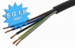 Cable électrique H07 RNF 5G1.5 mm au mètre