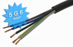 Cable électrique H07 RNF 5G6 mm au mètre