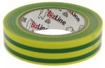 Ruban adhésif électricien vert-jaune en rouleau de 10 mètres