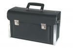 Valise verrouillable pour outils en cuir noir