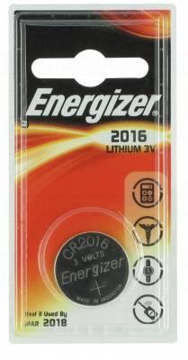 Pile CR2016 3V Energizer  au Lithium