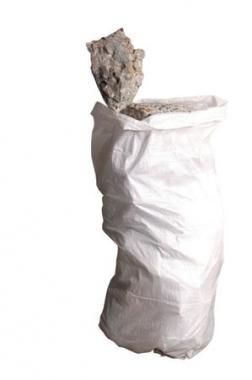 10 sacs à gravats opaques blancs en polyéthylène