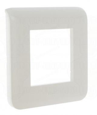 Enjoliveur 2 modules blanc Legrand Mosaic