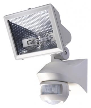 Projecteur halogène 150 Watts blanc avec détecteur de mouvement