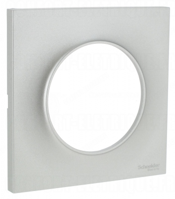 plaque schneider electric odace styl 1 poste alu 2 70. Black Bedroom Furniture Sets. Home Design Ideas