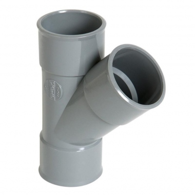 Culotte Simple PVC - Femelle / Femelle - 45° - Diamètre 75 mm - Nicoll BP144