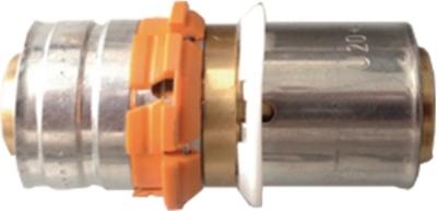 Manchon de transition à sertir - Pex/multicouche - Diamètre 20 mm - Uponor 1085290