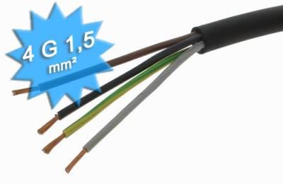 Cable électrique H07 RNF 4G1.5 mm en couronne de 50 mètres
