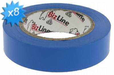 Ruban adhésif électricien bleu en rouleau de 10 mètres Lot de 8