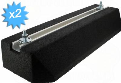 Support au sol anti-vibratiles Rubber Foot 600 x 220 x 95 mm