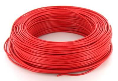 Fil rigide H07-VR 1 x 35 mm² - Rouge - Au mètre