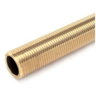 Tube fileté brut en laiton - 12 x 17 - 100 mm - Sachet de 2