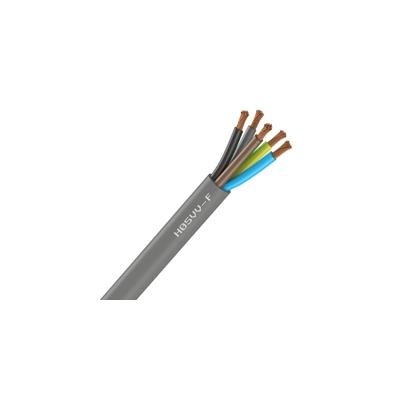 Cable Souple H05VV-F - 5G0.75 mm² - Gris - Couronne de 100 mètres