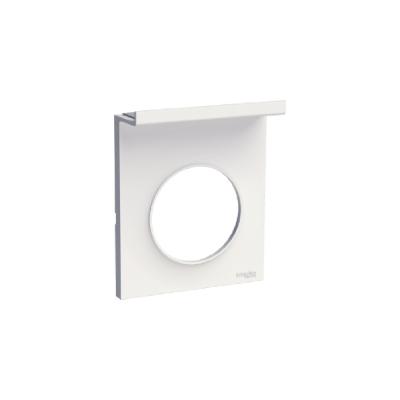 plaque schneider electric odace styl pratic 1 poste blan. Black Bedroom Furniture Sets. Home Design Ideas
