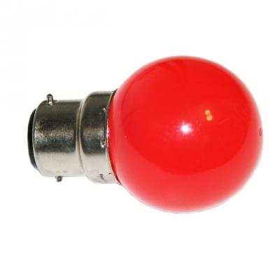 Ampoule à LED - Culot B22 - Rouge - Festilight 65682-2PC