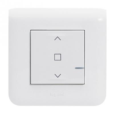 Interrupteur connecté pour volets roulant filaire - Blanc - Legrand Mosaic 077706