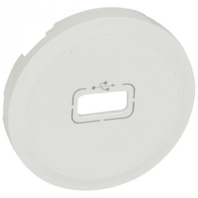enjoliveur prise usb simple legrand c liane blanc 2. Black Bedroom Furniture Sets. Home Design Ideas