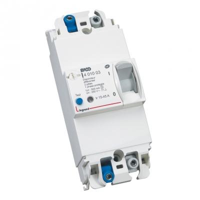 Disjoncteur diff rentiel de branchement 2 p les 15 45a 500ma - Branchement disjoncteur differentiel ...