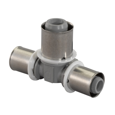 Té à sertir - Réduit - Composite - Tube Multlcouche - 32 - 20 - 32 - Uponor 1022733