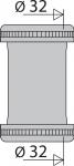 Manchon Raccordement - Diamètre 32 mm - Nickelé Mat - Valentin 02060000800