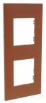 Plaque 2 postes Arnould Espace Evolution Terracotta
