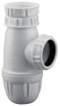 Siphon d'évier - Culot Démontable - 40 x 49 - Réglable - Plastique - Blanc - Valentin 75030000100