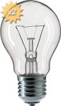 Ampoule E27 A55 clair 40w 230 Volts x2