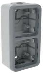 Boitier Plexo saillie 2 postes vertical (composable)