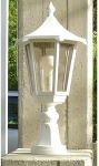 Borne lumineuse lanterne basse 530mm Aric Monaco Blanc