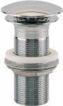 Bonde champignon - Diamètre 63 - Laiton chromé - Hauteur 10 mm - Sans lanterne - Sortie fileté 33x42 - Valentin 12350000000