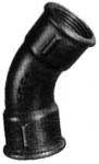 Courbe 45° Femelle - Fonte Malléable 41 Noir - 15x21 - Atusa 04121003