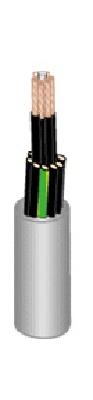 Cable Souple H05VV5-F - 2x0.75 mm² - Gris - Au mètre